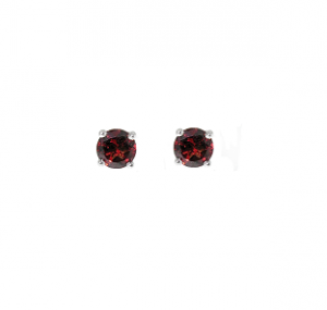 Garnet Stud Earrings Claw Set | B19050