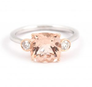 Cushion Cut Morganite Ring | B21098