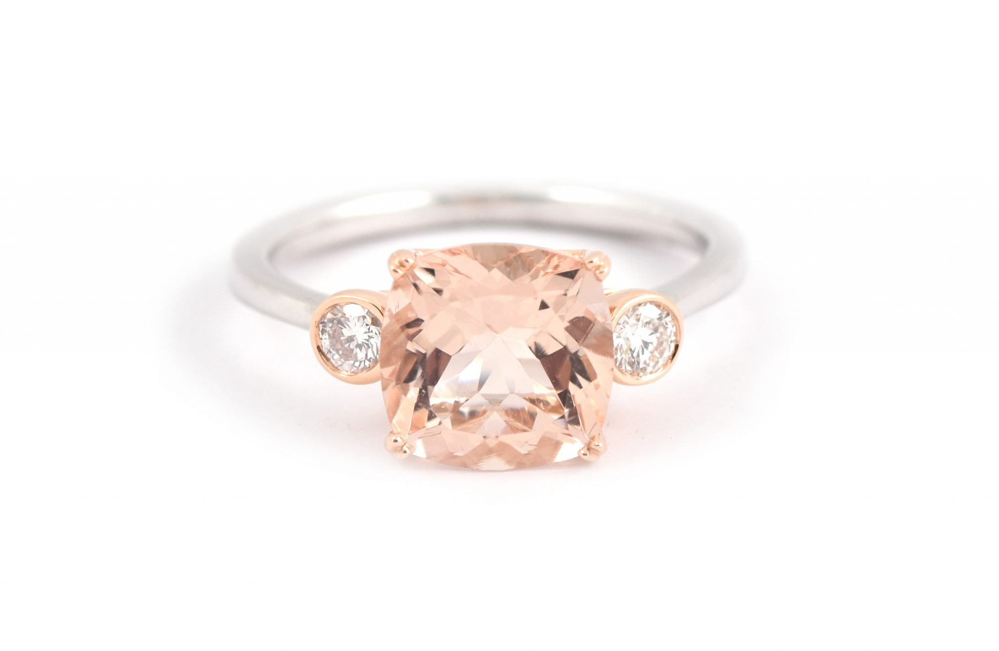 Cushion Cut Morganite Ring | B22208