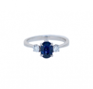 Sapphire And Diamond Trilogy Ring | B21115
