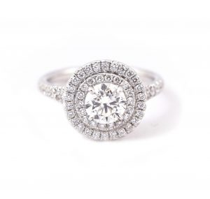 Double Halo Diamond Engagement Ring | B21145
