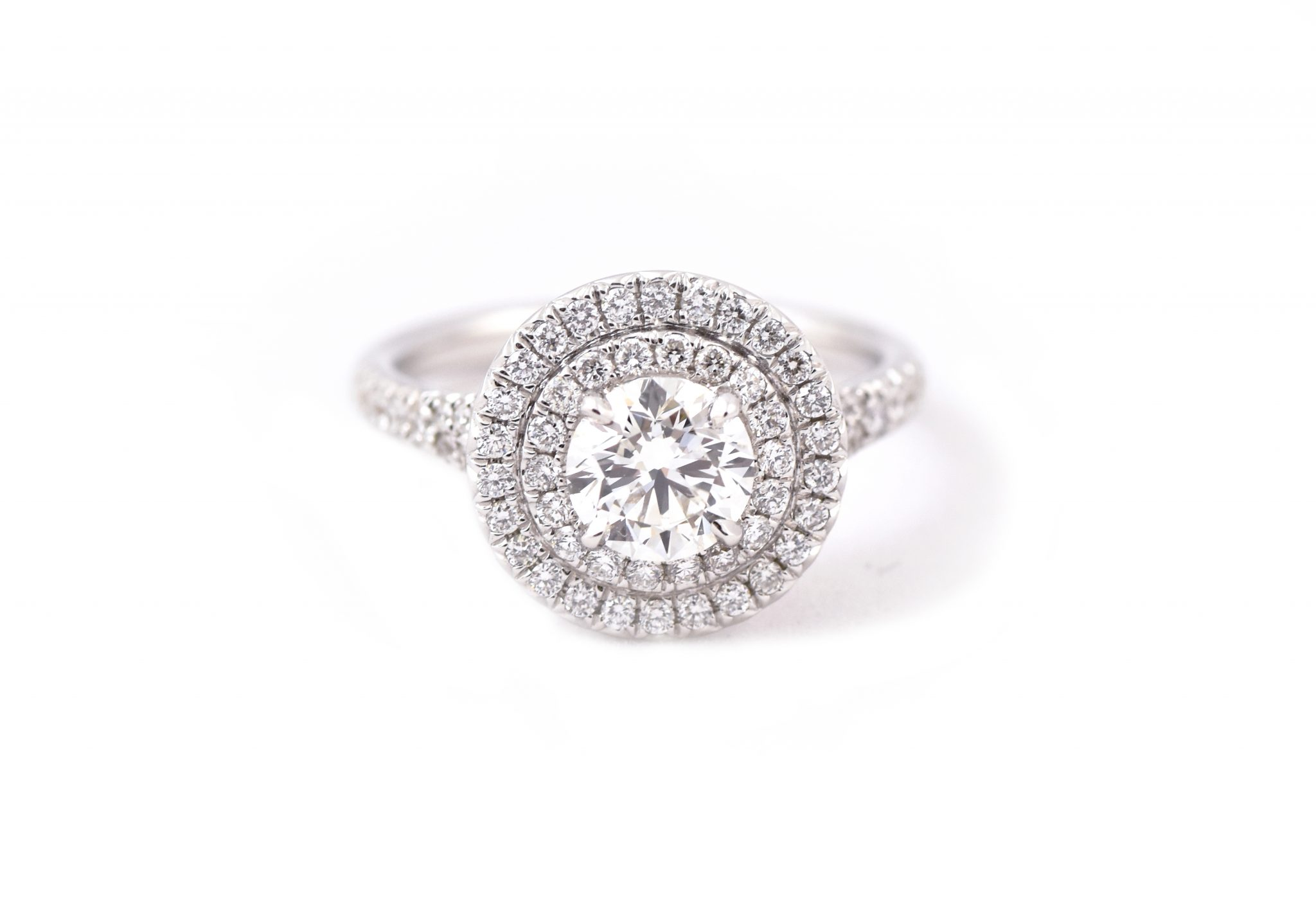 Double Halo Diamond Engagement Ring | B21145