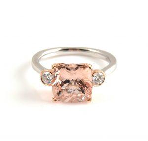 Morganite Cushion Cut Ring | B22208