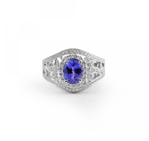 Tanzanite Art Deco Style Ring | B21113