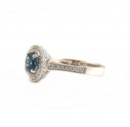 London Blue Topaz And Diamond Ring   B21189