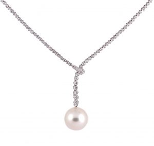 South Sea Pearl And Diamond Necklace | B21273 B21260