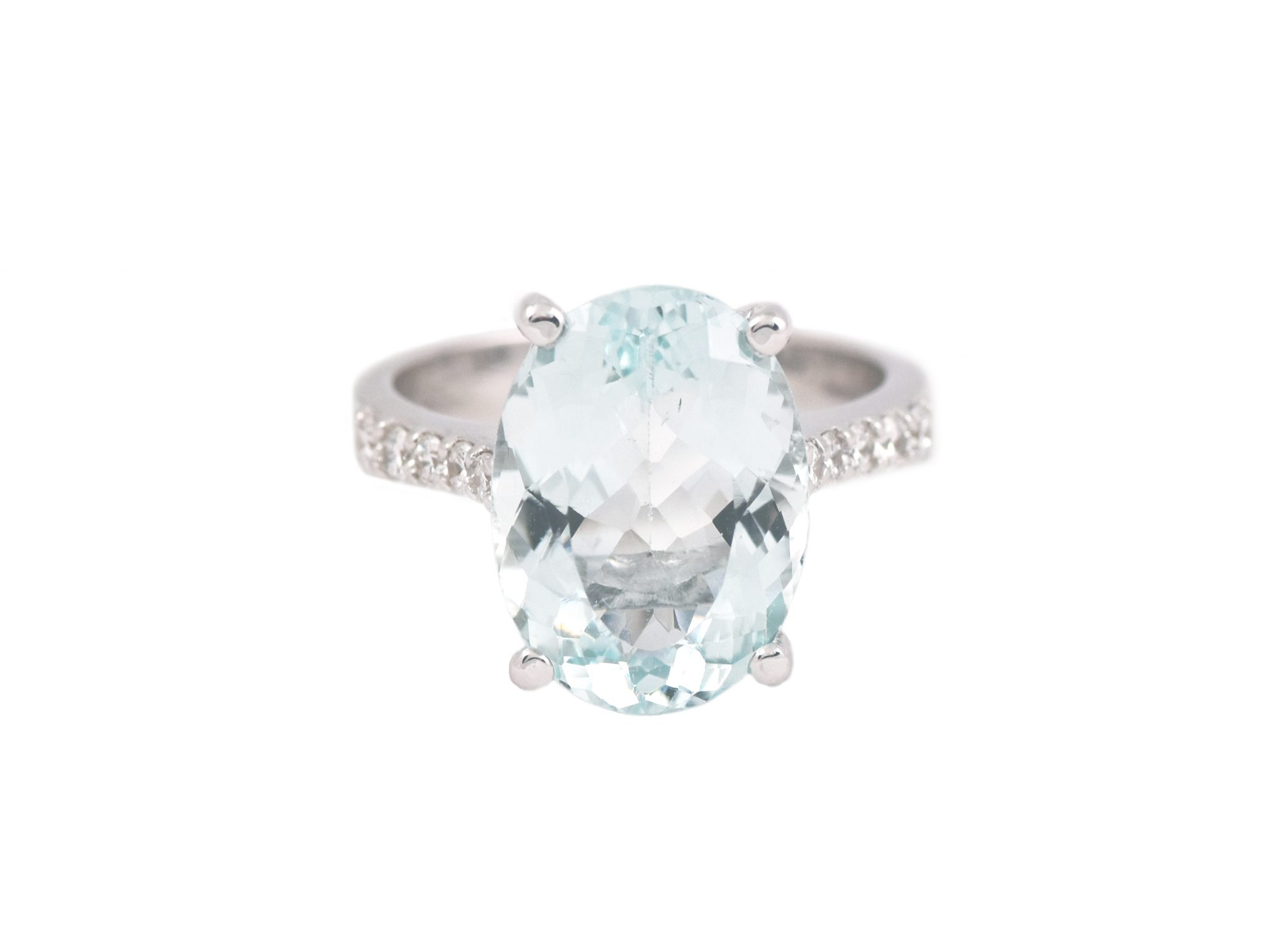 Aquamarine And Diamond Dress Ring | B21197