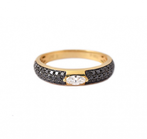 Black Diamond Dress Ring | B21214