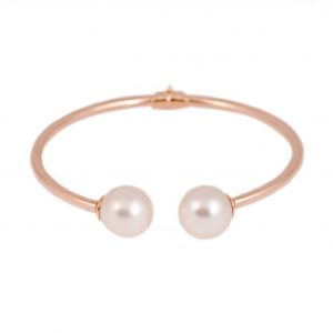 Rose Gold South Sea Pearl Bangle | B21330