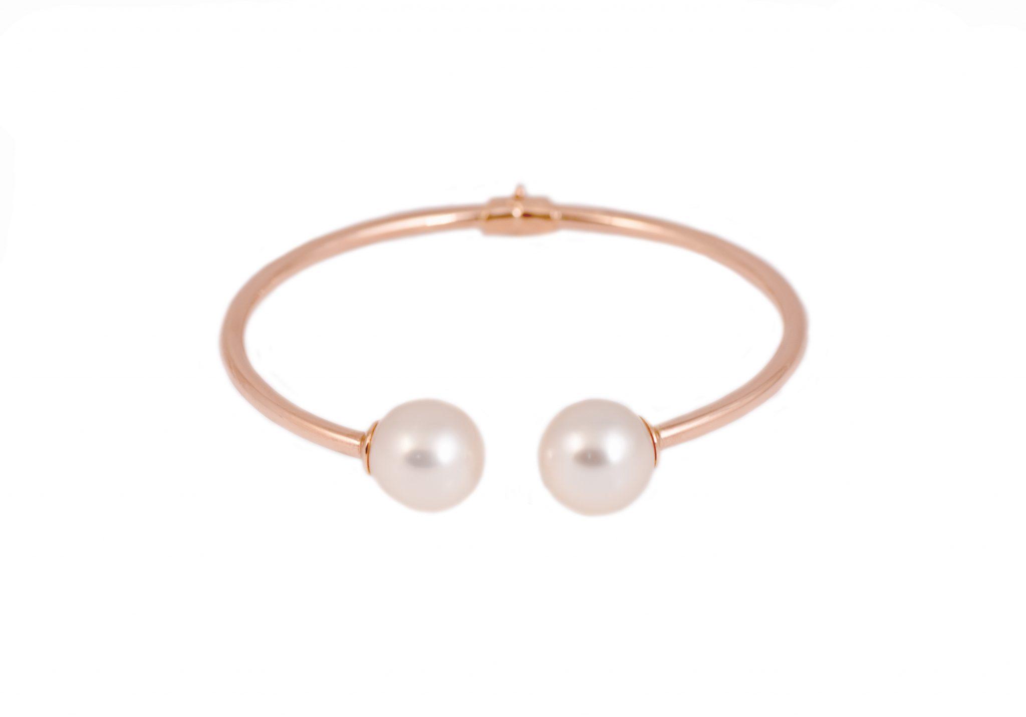 Rose Gold South Sea Pearl Bangle | B21330