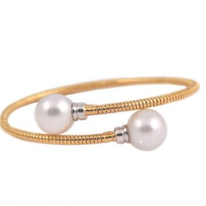 Two Tone South Sea Pearl Bangle | B21361