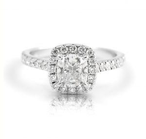Cushion Cut Halo Diamond Engagement Ring | B21401