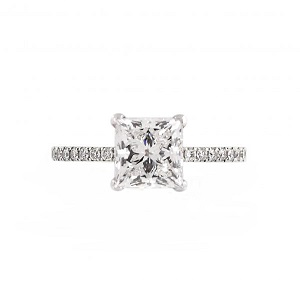 Princess Cut Solitaire Diamond Ring | B21292
