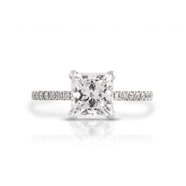 Princess Cut Solitaire Diamond Ring | B21292