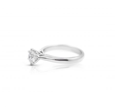 Platinum Classic Six Claw Diamond Solitaire Engagement Ring | B21995
