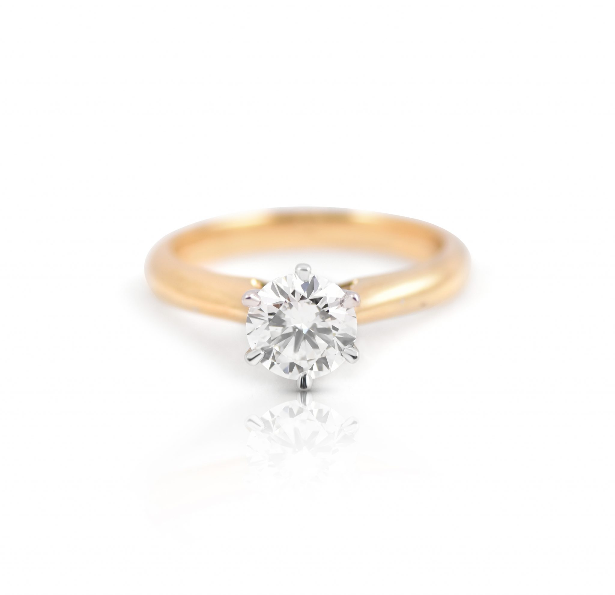 diamond white solitaire brilliant ly round cut da rings engagement ct in certified gold ring