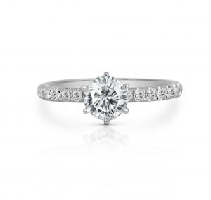 Classic Six Claw Diamond Engagement Ring | B22076
