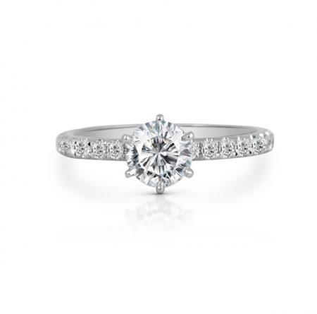 Classic Six Claw Diamond Engagement Ring | B22076