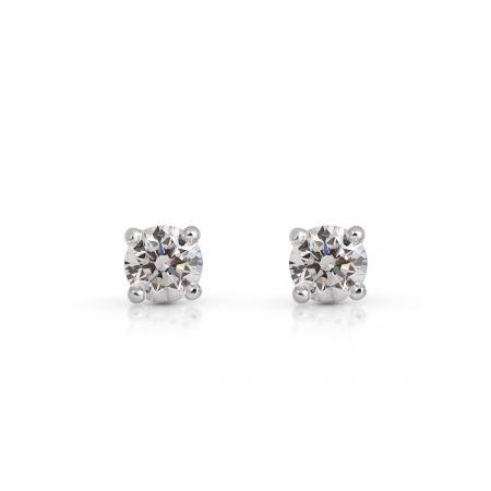 Classic Four Claw Diamond Stud Earrings   B22144