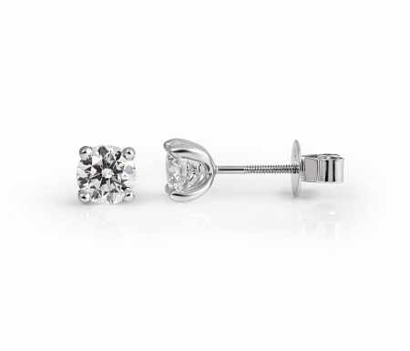Classic Four Claw Diamond Stud Earrings | B22143