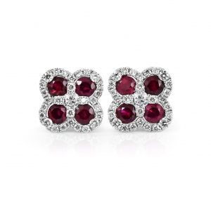 Ruby And Diamond Earrings | B21333
