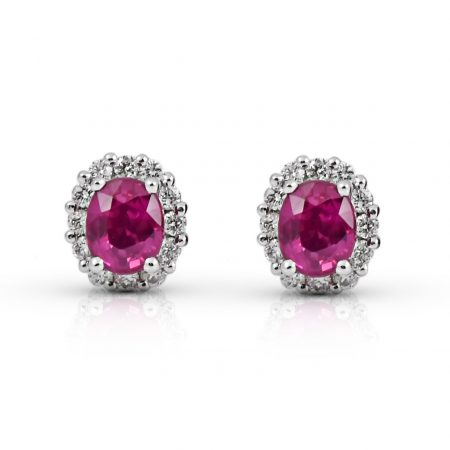 Ruby And Diamond Earrings | B22126