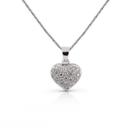 Diamond Cluster Heart Pendant | B22194