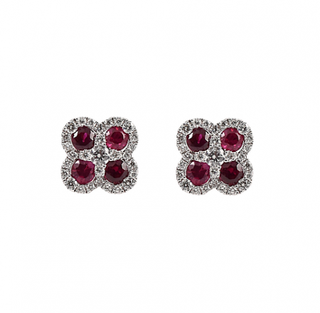 Ruby And Diamond Earrings | B21333