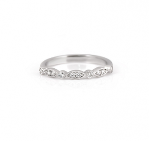 Alternating Shape Diamond Ring | B22250