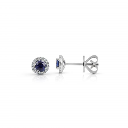Sapphire And Diamond Halo Earrings | B22267