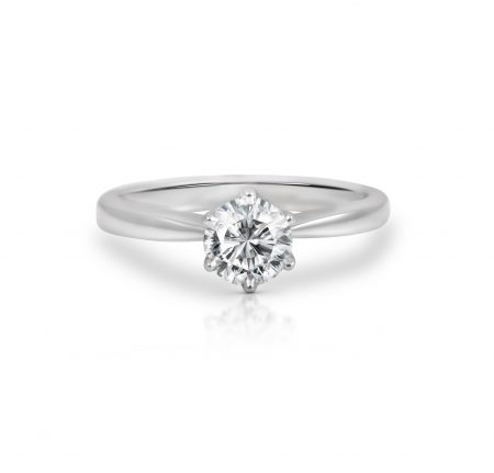 Diamond Six Claw Solitaire Ring | B22284