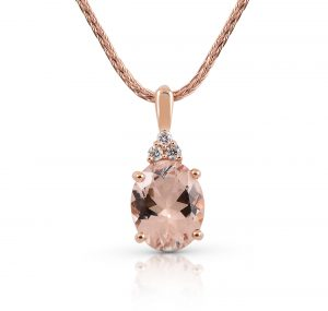 Morganite And Diamond Pendant | B21095