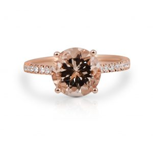 Morganite And Diamond Ring | B22209