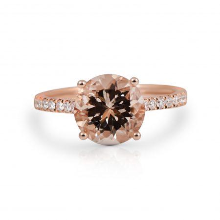 Morganite And Diamond Ring   B22209