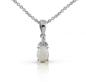Opal And Diamond Pendant | B22211