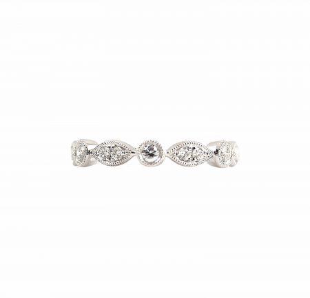 Alternating Shape Diamond Ring   B22437