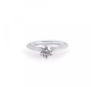 Knife Edge Six Claw Solitaire Diamond Ring | B22639