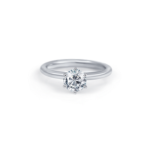 Six Claw Solitaire With Rounded Band | B22351