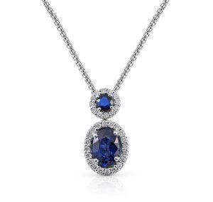 Sapphire And Diamond Pendant | B22478