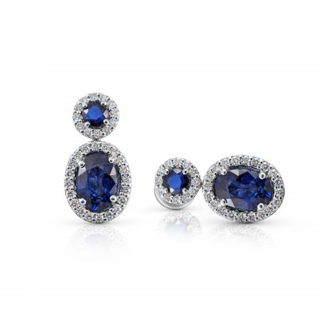 Sapphire And Diamond Drop Earrings | B22479