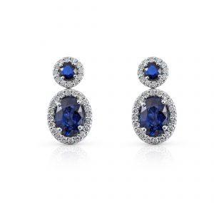 Sapphire And Diamond Drop Earrings | B22479