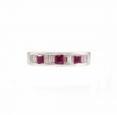 Ruby And Diamond Ring | B13323