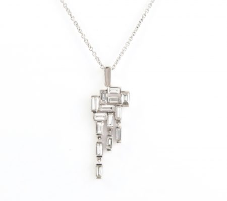 Diamond Baguette Pendant   B22382