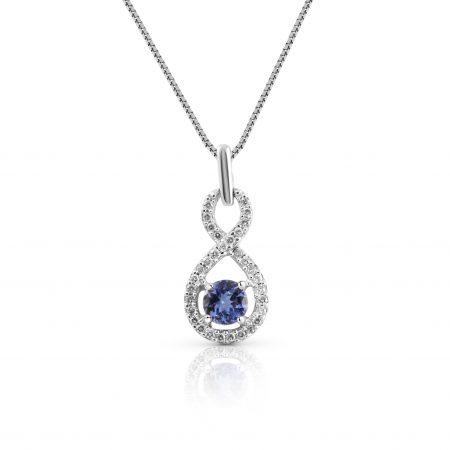 Tanzanite And Diamond Pendant | B22423