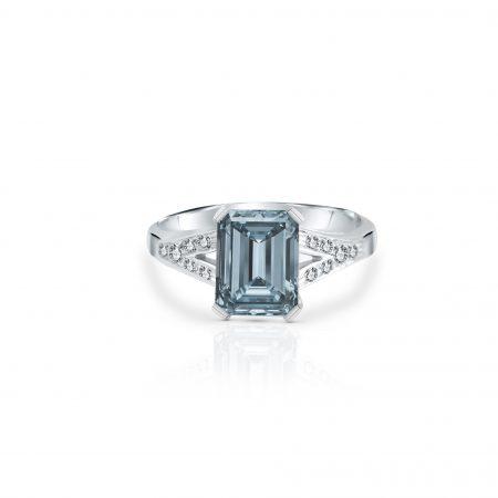 Aquamarine And Diamond Ring | B22477