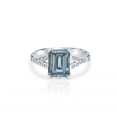 Aquamarine And Diamond Ring | B22477