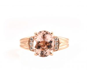 Morganite And Diamond Ring | B22522