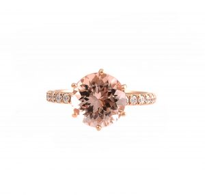 Morganite And Diamond Ring | B22598