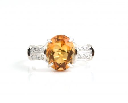 Citrine And Diamond Dress Ring | B22695