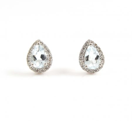 Aquamarine And Diamond Earrings | B22602